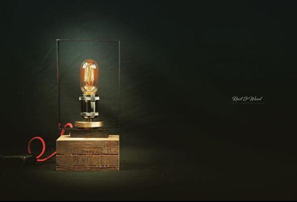 Objet de décoration : la lampe à l'état brut