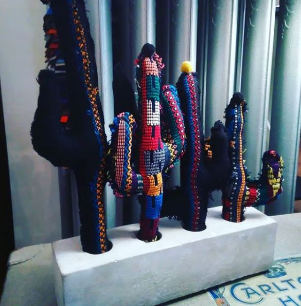 cactus du lac, cactus en tissus fait main pour décorer vos intérieurs