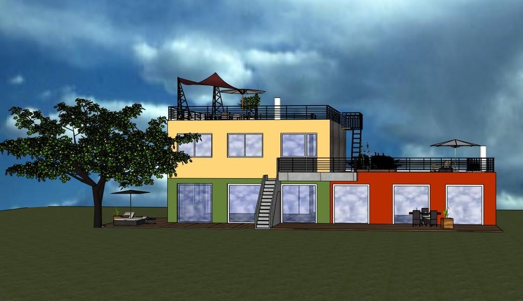 La Vie l'a composée ou, la Villa composée pour familles recomposées par Frédéric TABARY Architecte d'intérieur désigner d'espaces