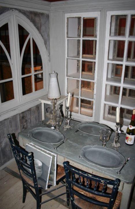 table zinguée pour dîner entre amis