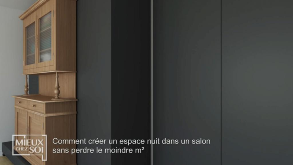 Cloison amovible/lit «Mieux chez soi» 2 juillet 2019 : cloison fermée