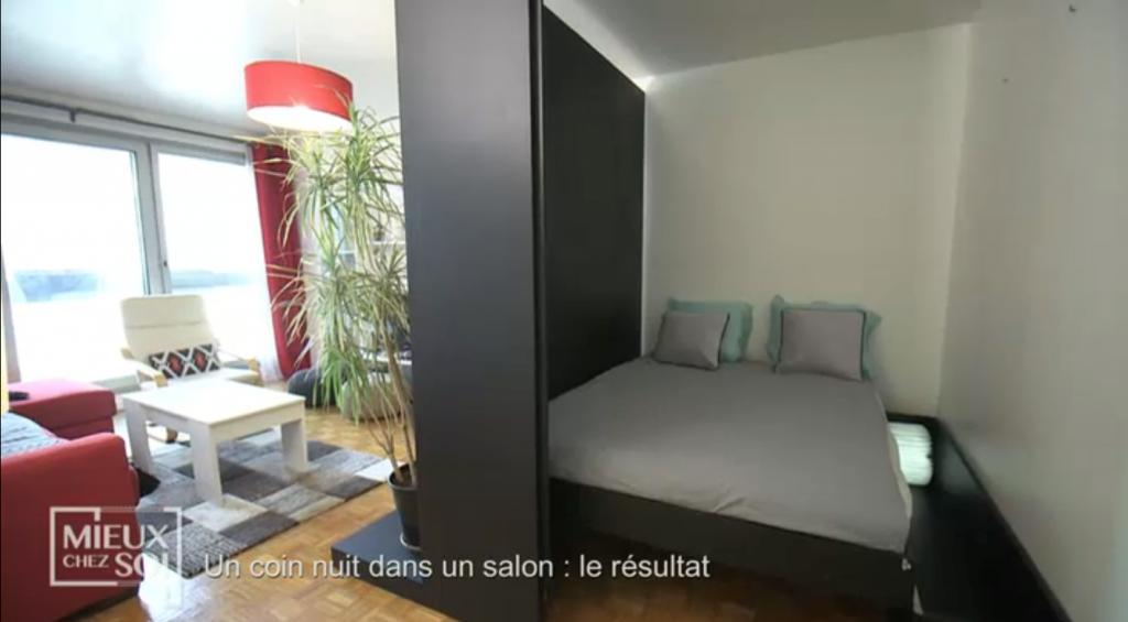 Cloison amovible/lit «Mieux chez soi» 2 juillet 2019 : une véritable chambre dans 4m²