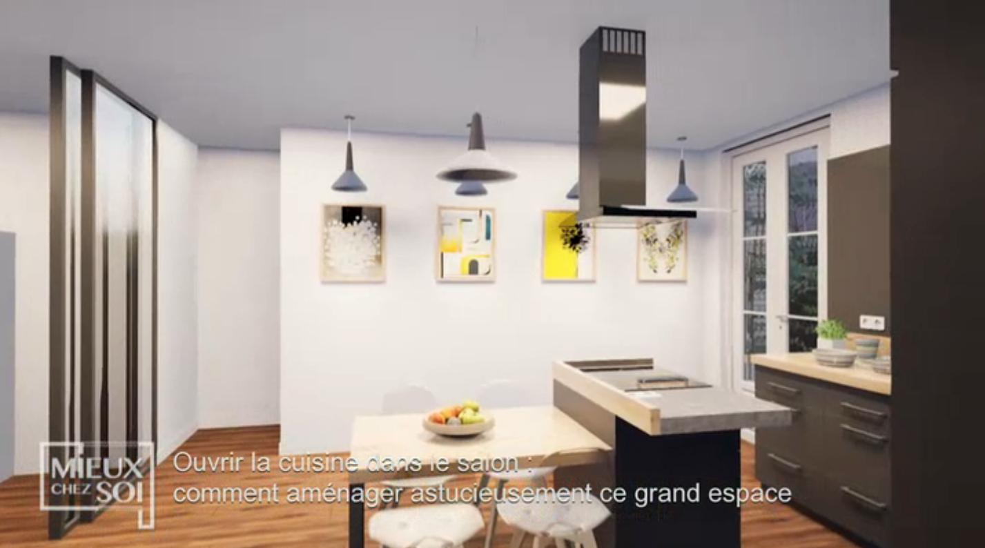 Ouvrir Une Cuisine Fermée ouvrir la cuisine dans le salon • frédéric tabary designer