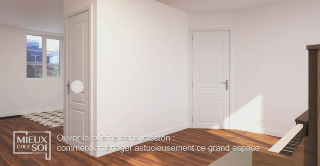 Une verrue au milieu d'un salon (Ouvrir la cuisine dans le salon :suppression de la verrue centrale)