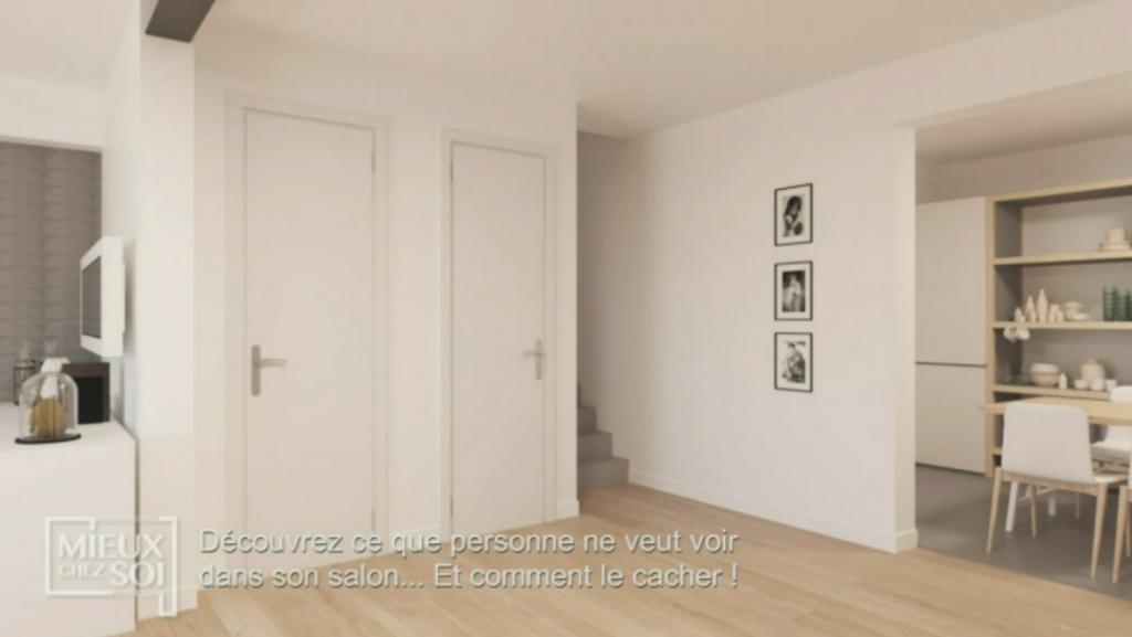 une pièce qui fait office d'entrée ou deux portes sont à cacher. Meuble Claustra Multifonctions - Mieux chez soi