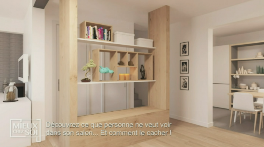 les étagères peuvent migrer et transformer votre claustra au grès de vos envies : La modularité! Meuble Claustra Multifonctions - Mieux chez soi