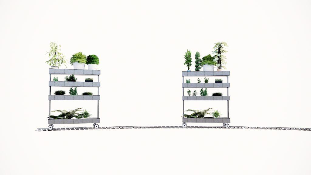 séparation végétalisée et mobile pour supprimer un vis à vis. C'est un brise vue signé Frédéric TABARY