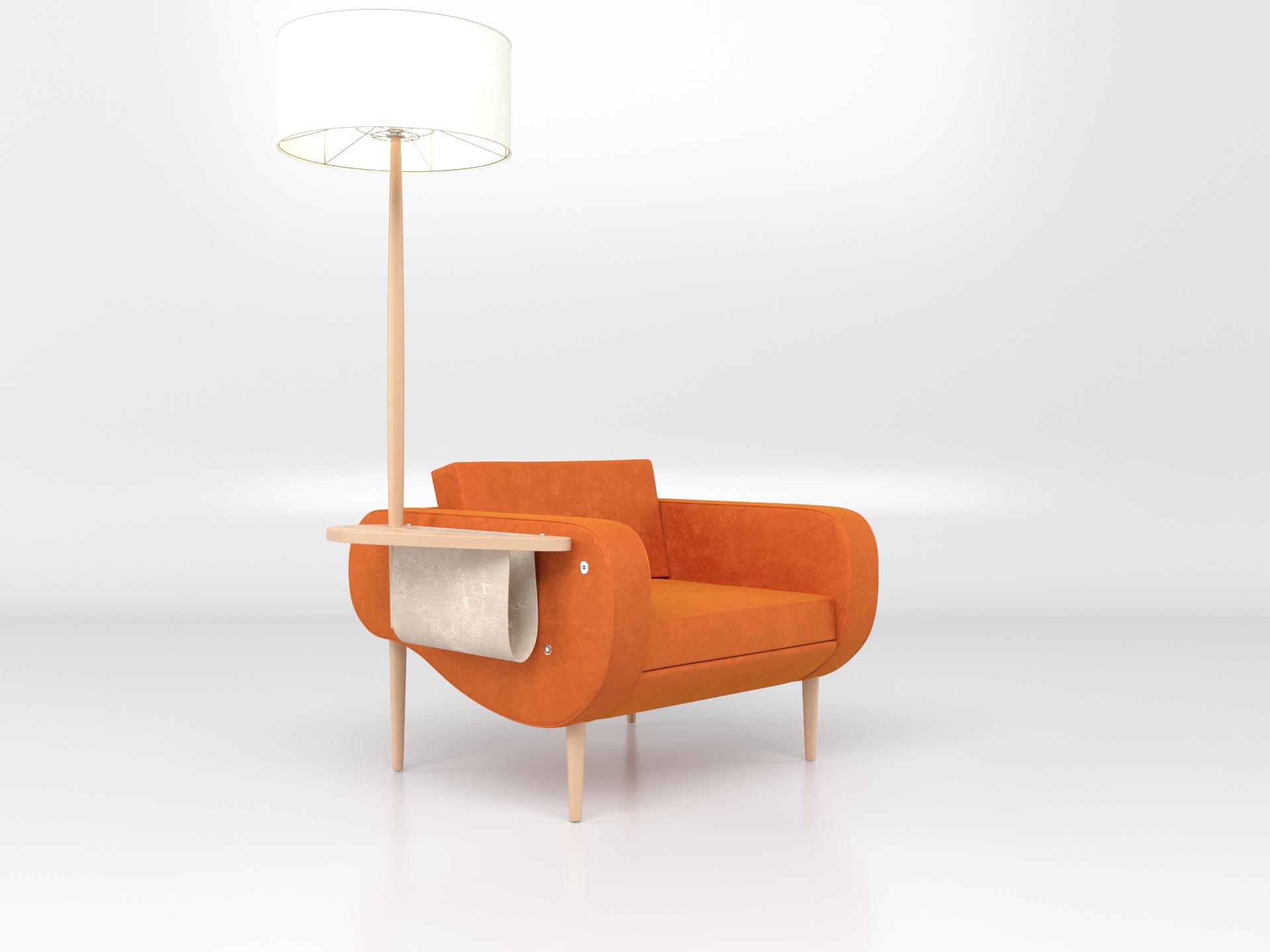 Illuminé canapé Illuminé Fauteuil Illuminé Tabouret adossé Frédéric TABARY Designer