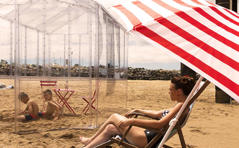 Invisible verrière, verrière, transparent, design, designer, Frédéric TABARY, TABARY, architecte, concepteur, design, designer produits, produit, concepteur, concept, rétro, ambiance, plage