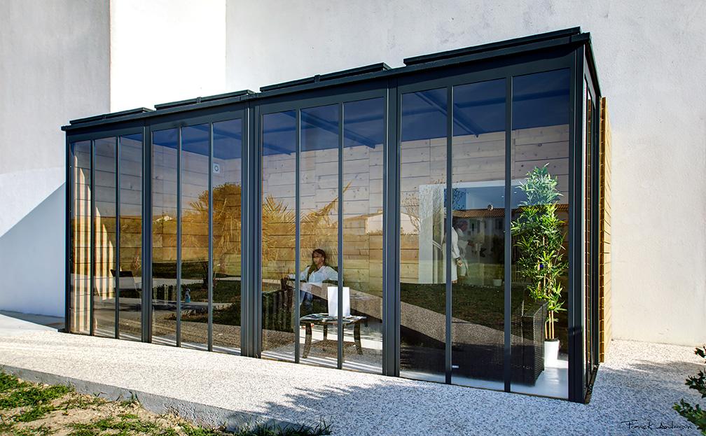 Un cube dans mon jardin, jardin, cube, Frédéric TABARY, concepteur, designer, designer produits, produits, produit, architecte, espace, verre, verrière,