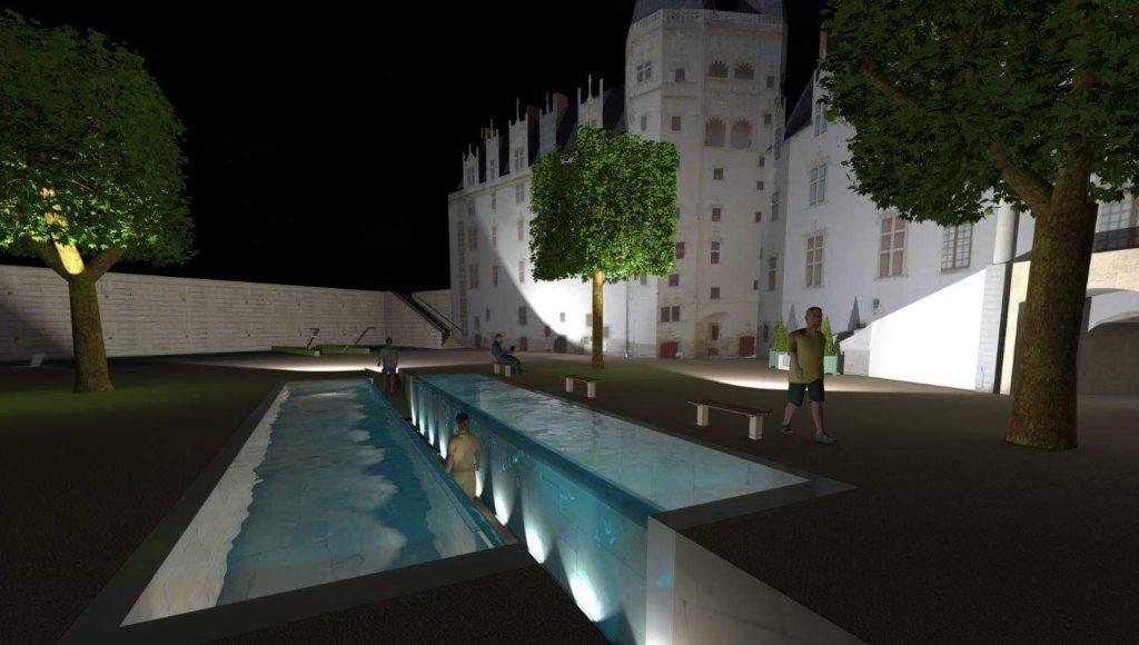 dans Le passage fontaine dans le château