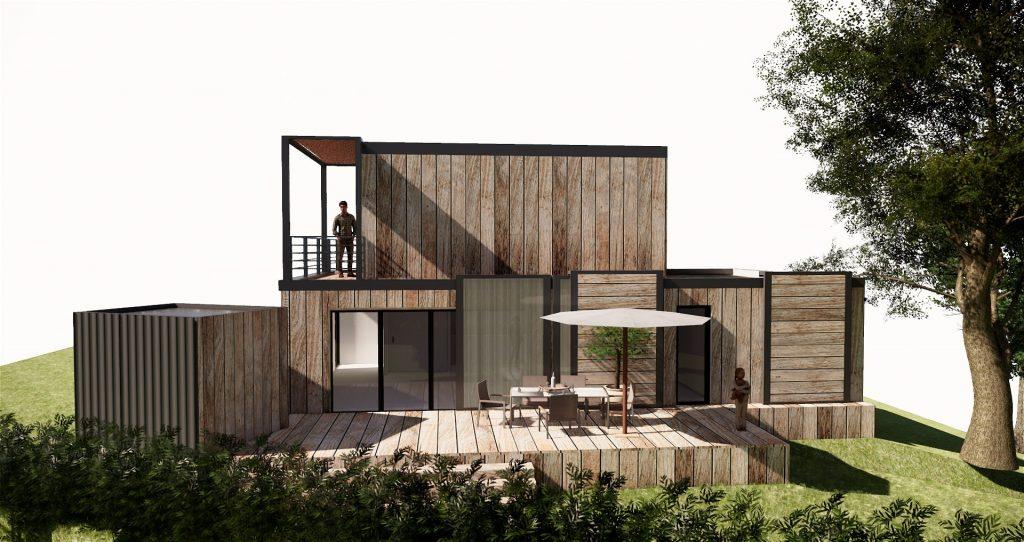 Projet faber, 2019, architecte, Frédéric TABARY, TABARY, designer, designer produit, concepteur, maison en bois, bois, construction, contemporain, intérieur, extérieur, outdoor, contemporain, concept, frigo,