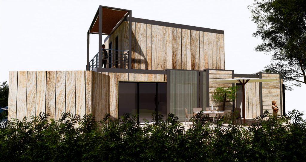 Une maison passive réalisée avec des containers frigorifiques