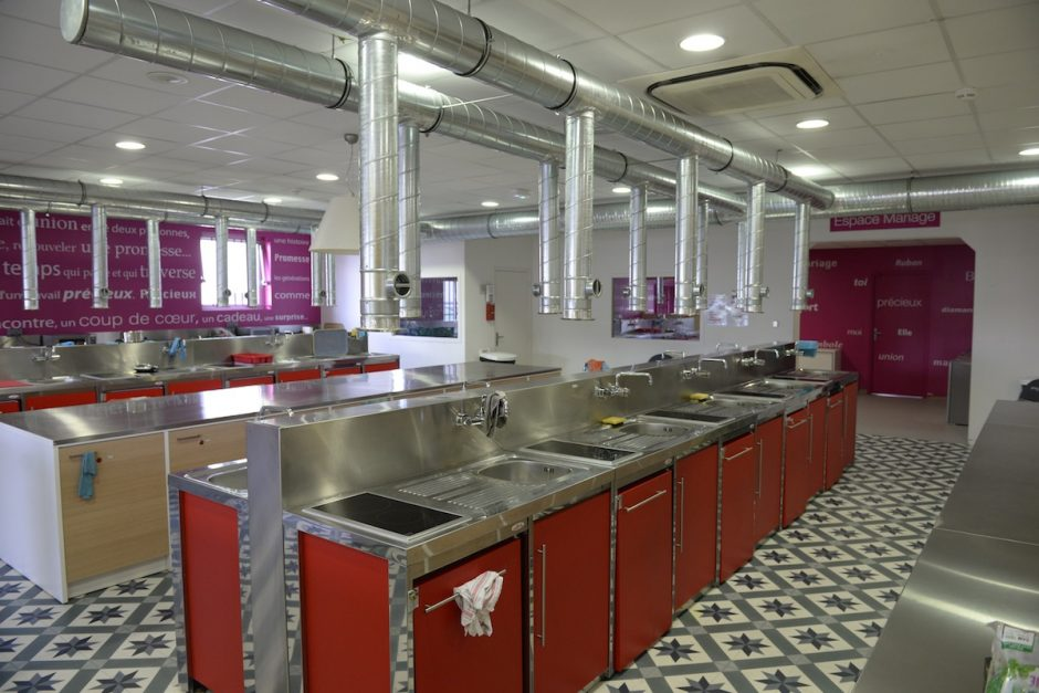 Agencement d'une cuisine dans un CHRS