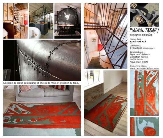 Tapis rivedatall par Frédéric TABARY, designer produits, designer, designer d'espace, architecte d'intérieur.