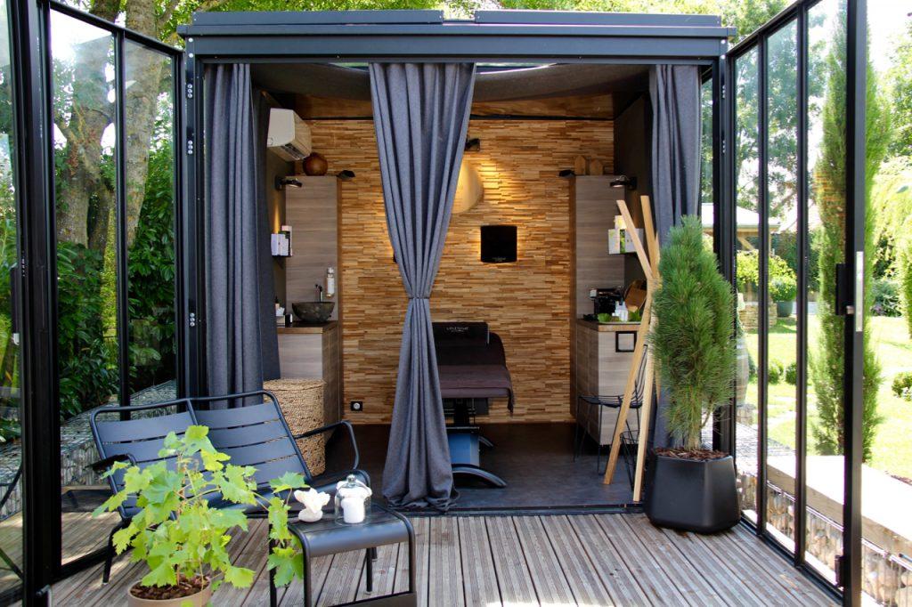 Un cube dans mon jardin, designer, designer produit, Frédéric TABARY, design d'espace, architecte, cube, jardin, espace, lieu, structure, verre, acier, aménagement, convivialité,