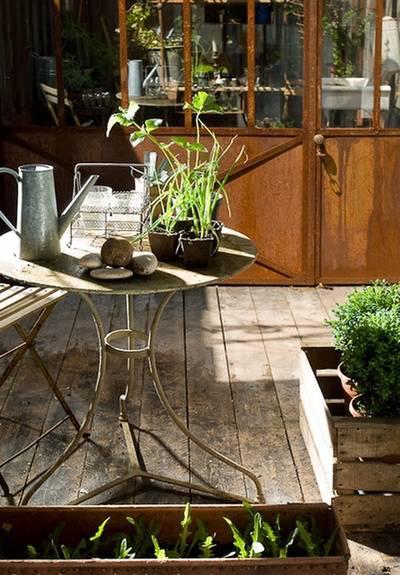 le jardin d'hiver dans La maison de Frédéric TABARY