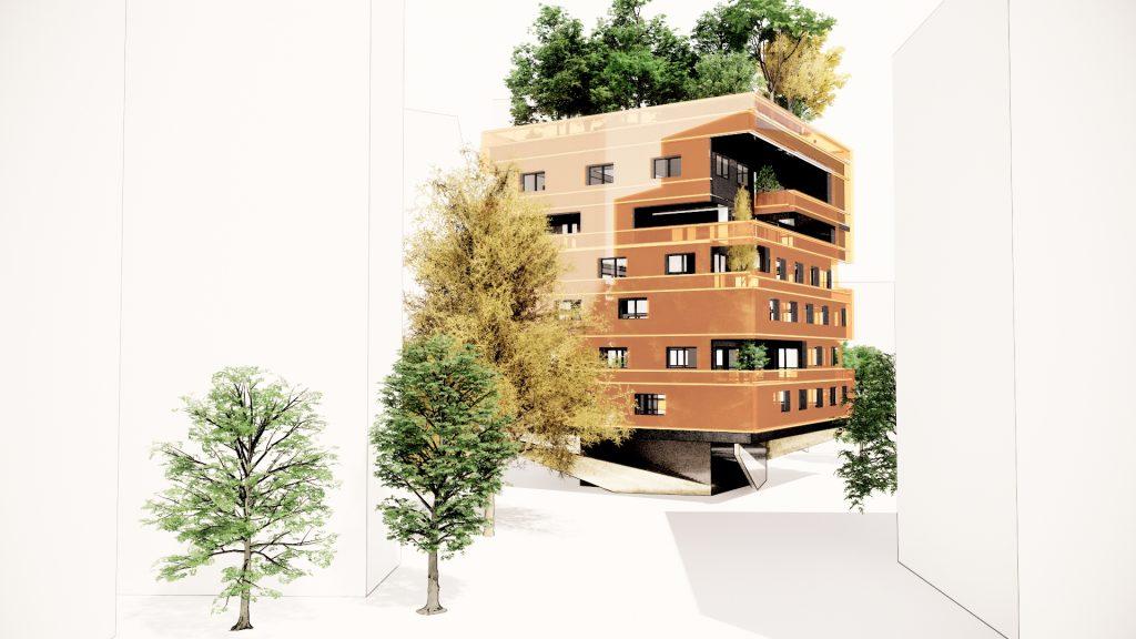 Bâtiment végétalisé l'orange Box Végétalisée Architecture durable by Frédéric TABARY