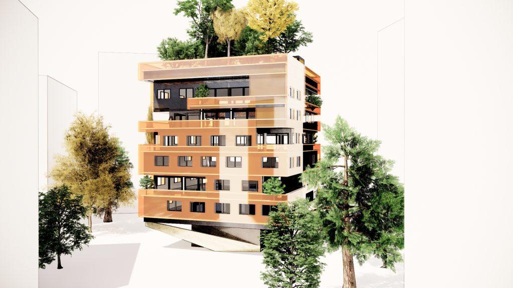 Immeuble végétalisé pour préserver notre environnement.